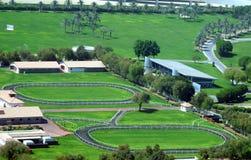 Horse race tracks for training. stock image