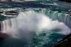 Horeshoe Falls From the Skylon Tower stock images