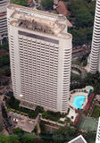 Aerial view of hotel Stock Images