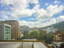 Aerial View from Hotel of Bogota Colombia Royalty Free Stock Photos