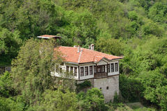 An aerial view of a house in Melnik, Bulgaria Royalty Free Stock Photo