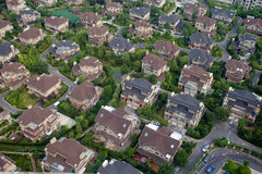 Aerial view of houses Stock Photos