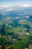 Aerial view of houses and... Stock Image