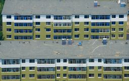 Aerial view of houses Stock Images