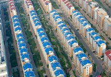 Aerial view of houses Royalty Free Stock Photography