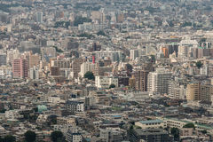 Aerial view of houses in central Tokyo Stock Images