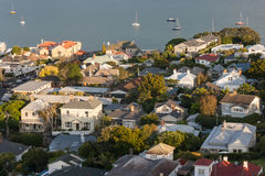 Aerial view of houses in Devonport Stock Image