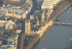 Aerial view of the Houses of the Parliament Stock Photo