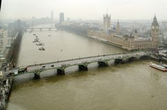 Aerial View of the Houses of Parliament Royalty Free Stock Images