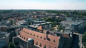 Aerial view of houses in Poznan, Poland Royalty Free Stock Images
