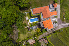Aerial view of the houses Stock Images