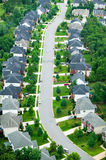 Aerial view of housing development Stock Photography