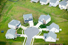 Aerial view of housing development Stock Images