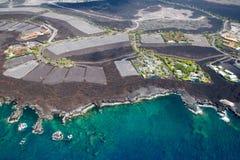 Development area on Big Island, Hawaii Stock Images