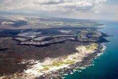 Development area on Big Island, Hawaii Royalty Free Stock Photos