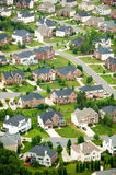 Aerial view of housing development in Charlotte, North Carolina Royalty Free Stock Photo