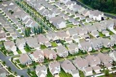 Aerial view of housing development in Charlotte, North Carolina Stock Photo