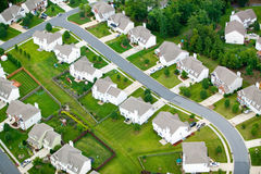 Aerial view of housing development in Charlotte, North Carolina Royalty Free Stock Photography