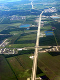 Aerial view of Houston highway Royalty Free Stock Photos