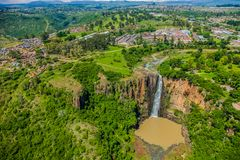 Aerial View of Howick Falls in KwaZulu-Natal South Africa stock photo