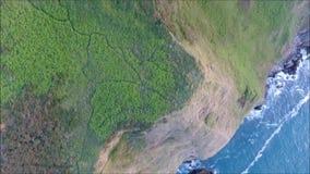 Aerial view. Howth cliffs. Dublin. Ireland. Aerial view. Howth cliffs from above. Dublin. Ireland stock footage