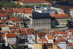 The aerial view of Hradcany from Petrin Hill. Prague, Czech Republic Royalty Free Stock Photography