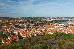 Aerial view of Hradchany: the Saint Vitus (St. Vitt's) Cathedral Royalty Free Stock Photos