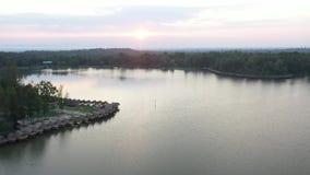 Aerial view Huay Tung Tao Lake in Chiangmai, Thailand.