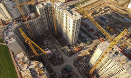 Aerial view of huge construction site Stock Image