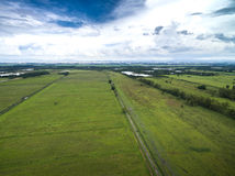 Aerial view of a huge farm in Goias, Brazil.  Stock Image