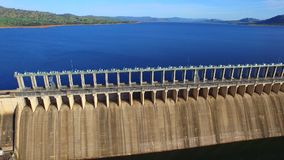 Aerial view of Hume Dam stock video