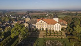 Aerial view of Hundisburg Palace and Baroque Garden in Saxony-Anhalt. Germany Stock Photo
