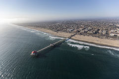 Aerial of Huntington Beach in Southern California Royalty Free Stock Photography
