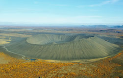 Aerial view of Hverfjall crater Royalty Free Stock Photos