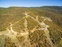 Aerial view of Hydro Surge Tower near Kosciuszko Road, New South. Wales, Australia Stock Image
