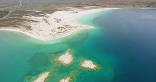 Aerial view of Hydromagnesite Salda Lake, Turkey. Amazing view of Hydromagnesite Salda Lake, Turkey 4K stock video