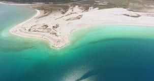 Aerial view of Hydromagnesite Salda Lake, Turkey stock video