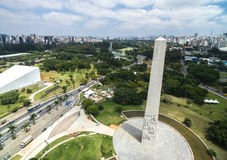 Aerial view of Ibirapuera in Sao Paulo, Brazil Royalty Free Stock Images