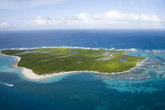 Aerial view of Icacos Island Puerto Rico Royalty Free Stock Photography