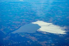 Aerial view of ice lake Stock Images