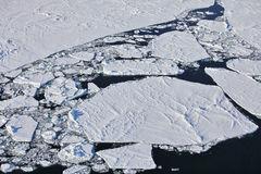 Aerial view of iceberg stock photo