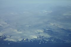 Aerial View of Icebergs Stock Images