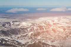 Aerial view Iceland volcano mountain natural landscape. Background Royalty Free Stock Images