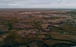 Aerial view of icelandic landscape stock photos