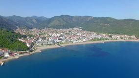Aerial view of Icmeler, Turkey stock footage