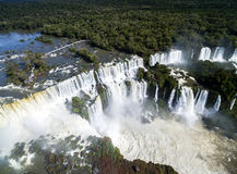 Aerial view of Iguazu Falls, on the border of Brazil and Argentina Royalty Free Stock Photo