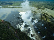 Aerial view of Iguazu Falls, on the border of Brazil and Argentina Stock Images