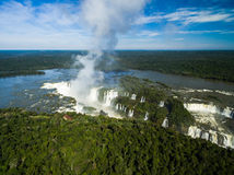 Aerial view of Iguazu Falls, on the border of Brazil and Argentina Stock Photos
