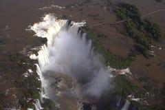 Aerial view of Iguazu Falls, Brazil, South America Royalty Free Stock Image
