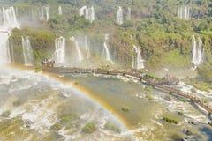 Aerial View of Iguazu Waterfalls Stock Images